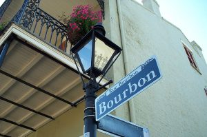 Bourbon Street - a must walk on the tour of the city