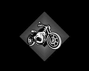 86617241 - emblem or sticker, hipster bike, motorbike sign.