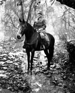 MB on horseback